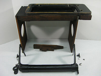 SINGER Sewing Machine D R Cabinet ~ MACHINE LIFT, DRIP PAN, STOP, ROCKING FRAME