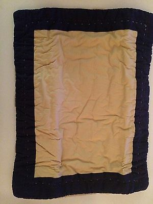 Pottery Barn Kids Hayden Toddler Small Quilted Pillow Sham New to Monogram Khaki