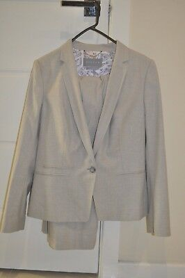 brand new Jigsaw  suit jacket and pants with tags - size 12 biscuit