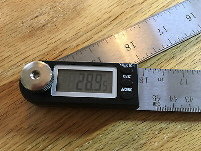 "iGaging 18"" Large digital protractor miter gauge angle ruler lithium battery"