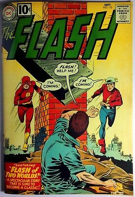 Flash #123 1st Earth 2 X-Over Coverless Original 1st Print w/High Quality Cover