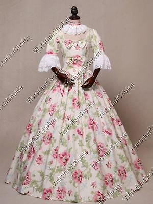 Renaissance Colonial Princess Alice in Wonderland Dress Halloween Costume 136