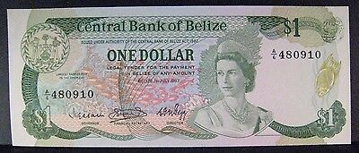 1983 Belize, Central Bank of, $1 Dollar, Unc. Note Nice ** FREE U.S. SHIPPING **