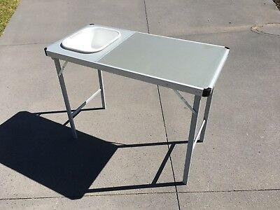 Oztrail Camp Kitchen Table With Sink Camping
