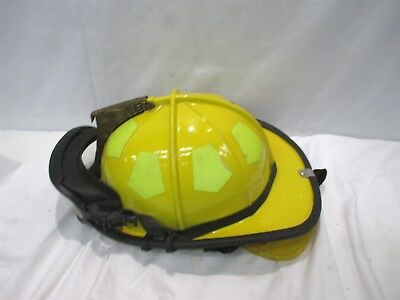 Bullard Firedome CX Size 6-1/2 To 8 Yellow Firefighter Helmet With R721 Cover