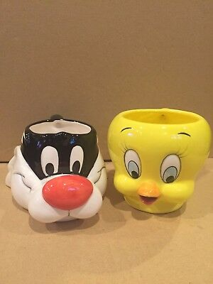 1989 Applause Inc Warner Bros Tweety & Sylvester Coffee Mug Cup Looney Tunes
