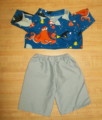 "DORY FISH OCTOPUS WHALE SHIRT+LT GRAY GREY PANTS for  20/"" CPK Cabbage Patch Kids"
