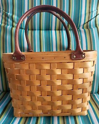 LONGABERGER Basket - Medium Boardwalk Purse Basket 2001