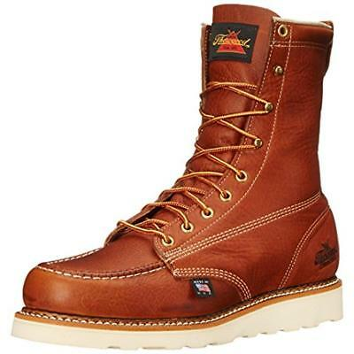 Thorogood 2306 Mens Brown Leather Work Boots Shoes 9.5 Medium (D) BHFO