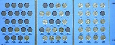 Buffalo Nickel Collection in Whitman Folder 35 Nice Coins ! Nice Five Cent Coins