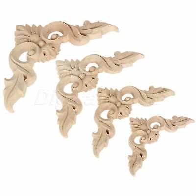 European Style Unpainted Woodcarving Onlay Furniture Doors Cabinets Corner Decal