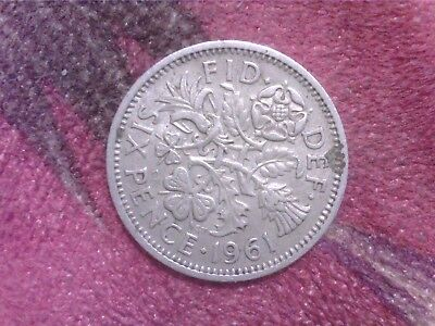 Great   Britain    Sixpence  1961 Mm