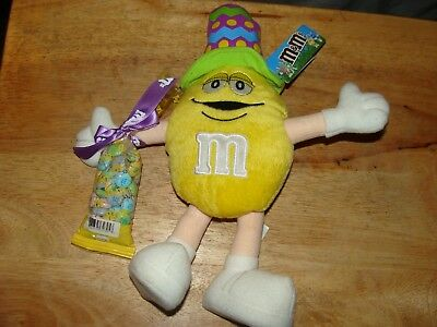 GALERIE 2005 M & M STUFFED TOY with a bag of real candy m & m`s,top hat,all tags