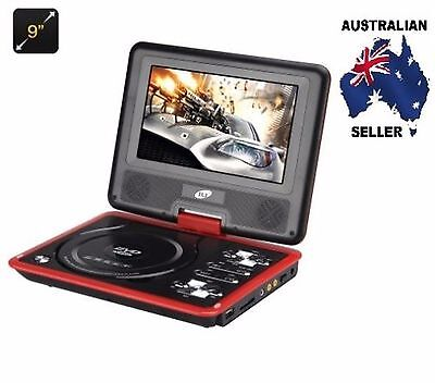 9 Inch Region Free Portable DVD Player - 270 Swivel Screen, AUS SELLER