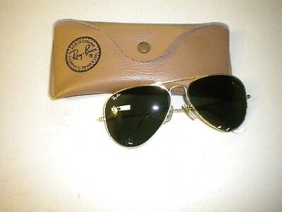 Vintage Bausch & Lomb Ray-Ban Aviator Sunglasses gold Frame USA