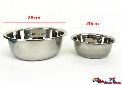 Bulk Lot Stainless Steel Bowl Large Mixing Bowl Salad Bowl Baking Basin