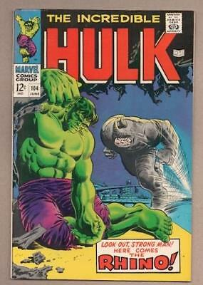 Incredible Hulk #104 -8.0 Very Fine - Original Owner Collection