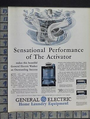 1931 Home Decor Laundry Room Washing Machine Model General Electric Ad Dl85