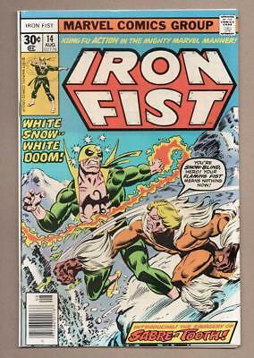 Iron Fist #14 - 1st Appearance Of Sabretooth - 5.0 Very Good/Fine