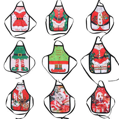 Cute Christmas Apron Beer Wine Bottle Cover Bag Xmas Dinner Table Decor Hot Sale
