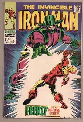 Iron Man #5 - 8.0 Very Fine - Original Owner Collection