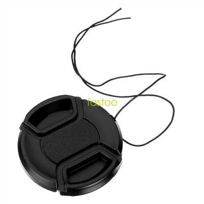 58mm Center Pinch Snap-on Front Lens Cap for Canon Nikon Sony Camera Lens Filter