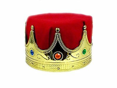 Jacobson Hat Company Mens Delux Kings Crown, Red, Adult