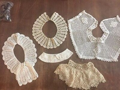 Lot of 5 Vintage Collars Crocheted lace