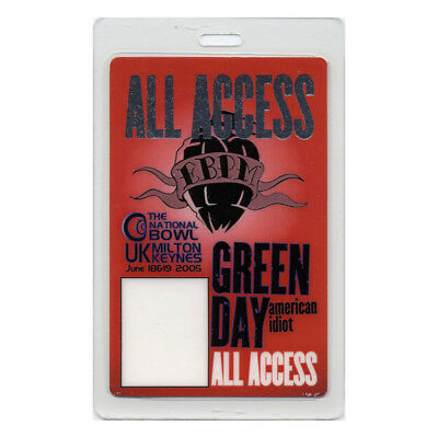 Green Day authentic 2004 Laminated Backstage Pass American Idiot Milton Keynes