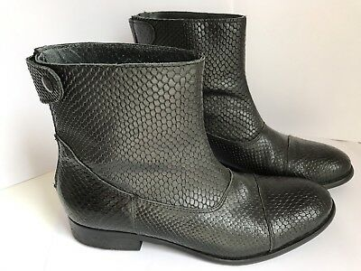 Black Leather Maya McQueen Boots 41