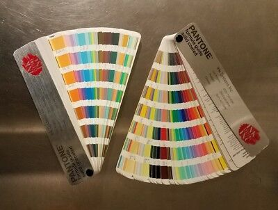 2 Vintage PANTONE COLOR FORMULA GUIDES 2005-2006;  Solid Uncoated and Coated