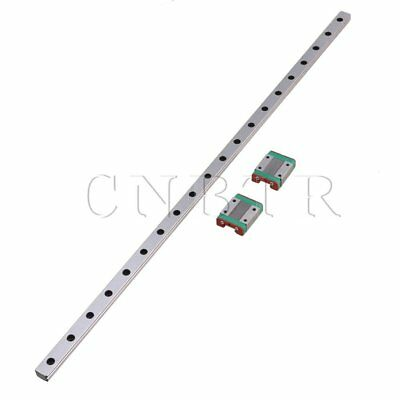 MGN12 Precise Linear Guide Rail & 2 Sliding Rail Block Set Silver