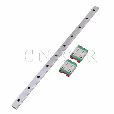 40cm Length Bearing Steel MGN15 Linear Sliding Guide & 2 Extension Block
