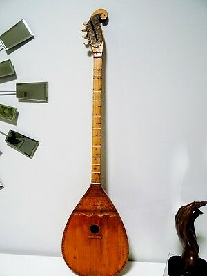 CROATIAN old TAMBURICA Samica INLAYS BIRD Folk Minstrel 4string TAMBURA see keys