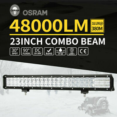 23inch 336W Osram LED Light Bar 5D Lens SPOT FLOOD Driving Lamp