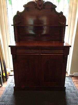 Beautiful Victorian Antique Mahogany Chiffonier Sideboard