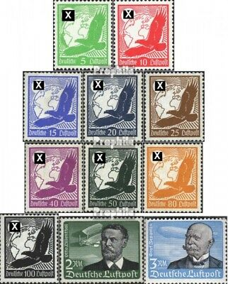 German Empire 529-539 (complete issue) with hinge 1934 Airmail