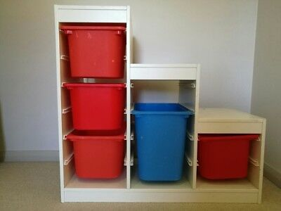 IKEA Trofast Toy Storage Unit And Boxes