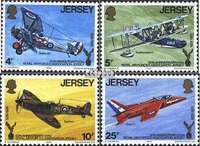 united kingdom-Jersey 127-130 (complete issue) used 1975 air fo