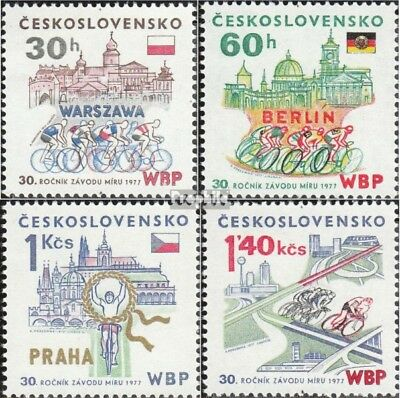 Czechoslovakia 2370-2373 (complete issue) unmounted mint / never hinged 1977 Pea