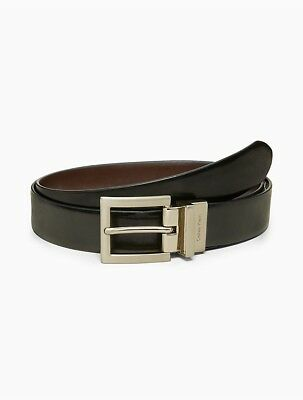 calvin klein womens reversible smooth leather belt