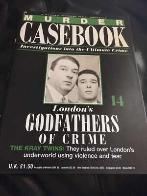 Murder Casebook Issue 14 - The Kray Twins London's Godfathers of crime