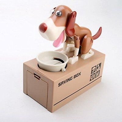 Choken Puppy Hungry Eating Dog Money Saving Box Coin Bank Piggy Bank Gift US