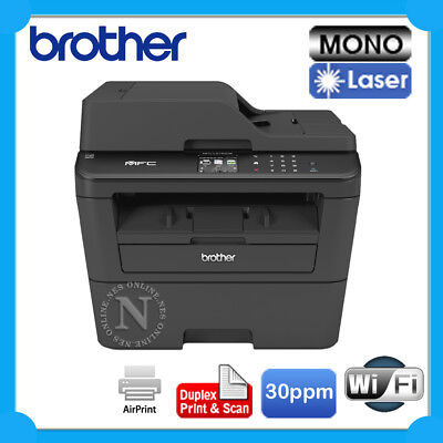 Brother MFC-L2740DW Copy/Scan/Fax MFP Printer,Wireless+Duplexer+ADF 30PPM *RFB*