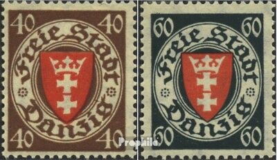 Gdansk 243-244 (complete issue) used 1935 Postage stamp