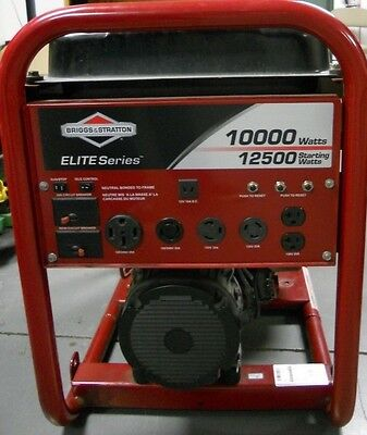 Used Briggs & Stratton 10,000 Watt Elite Series Portable Generator 030207