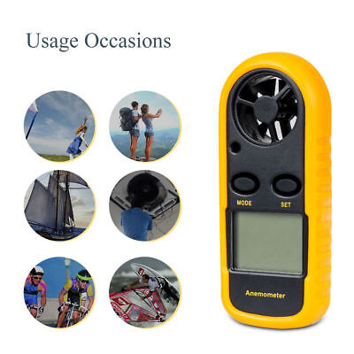 Ce Approved Digital Handheld Anemometer Wind Speed Meter Thermometer Lcd Sailing