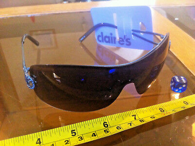 b6e2b09aa Claire's Claires Accessories Shades Sunglasses Blue Gem Dark Oil £10 RRP