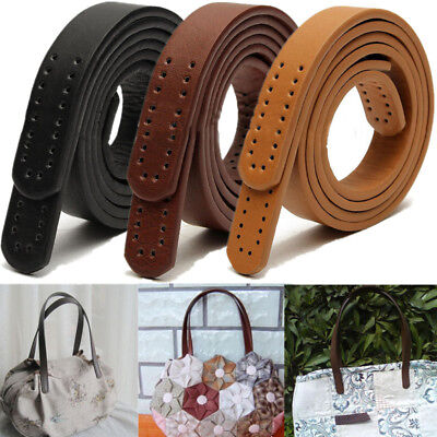 2pcs Shoulder Bag Handbag Purse Strap Replacement PU Leather Handle DIY Handmade