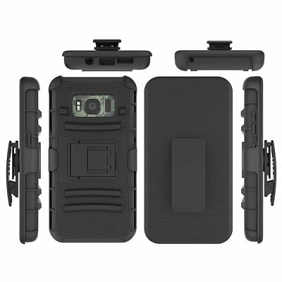 Shockproof Hybrid Hard Holster Belt Clip Case Cover for Samsung Galaxy S8 Active